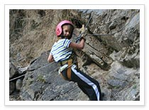 Adventure Activity Waterfall Rock Climbing and Rappelling in Rishikesh